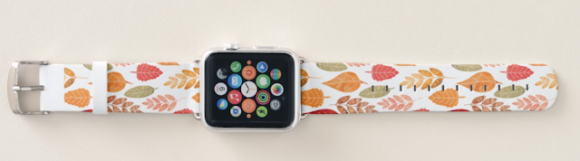 Custom Leaf Pattern Apple Watch