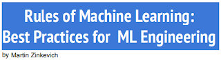 Image result for Rules of Machine Learning: Best Practices for ML Engineering