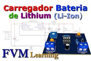 Carregador de bateria de lítio (Li-Ion) com CI LP2951+ PCI