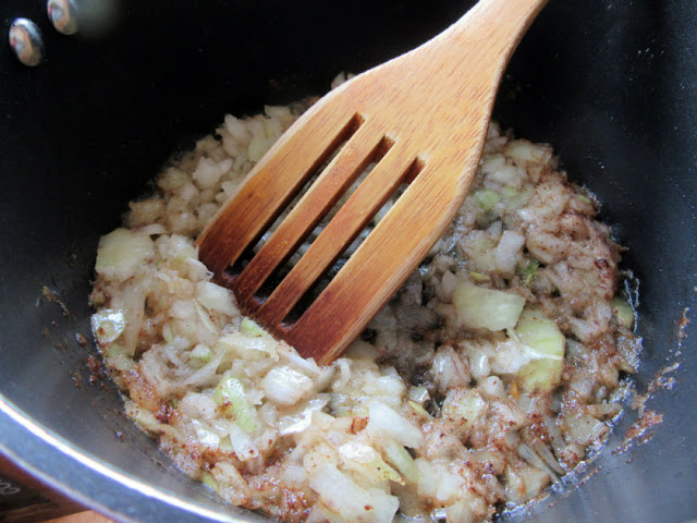 onions in olive oil