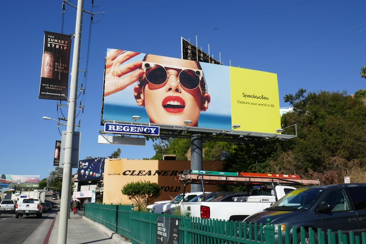 3D Spectacles Snapchat billboard