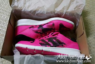 Kasut Sukan Adidas Untuk Kakak Insyirah , Kasut Adidas Pink , Kasut Adidas