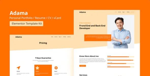 Best Personal Portfolio & Resume Elementor Template Kit
