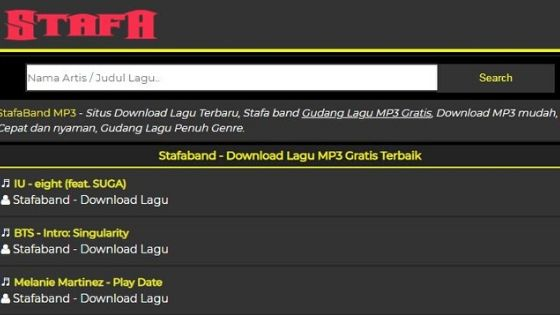 Situs  Stafaband Download Lagu Gratis