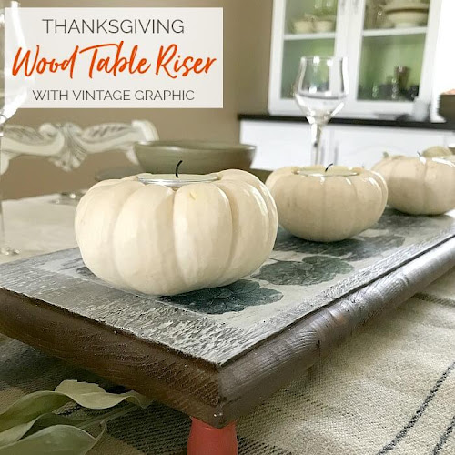 Cute As A Pumpkin Thanksgiving Wood Table Riser
