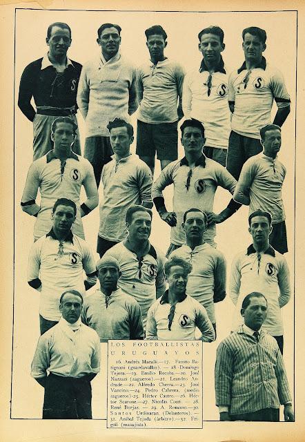 Plantel de Uruguay en Campeonato Sudamericano de 1926