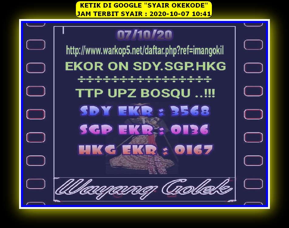 Syair sdy 7 Oktober 2020 - KODE SYAIR SGP SYAIR HK SYAIR SYDNEY 2021