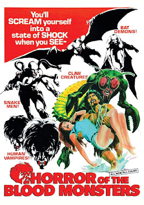 Poster for Al Adamson's HORROR OF THE BLOOD MONSTERS!