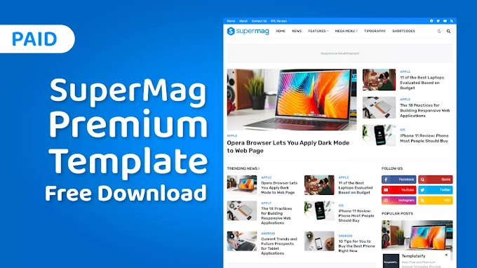 [Paid] SuperMag Premium Blogger Template Free Download • SuperMag v1.1.0 Magazine Blogger Template