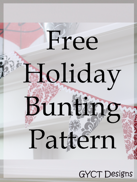 Create your own custom holiday bunting in triangle or star form with these free holiday bunting templates.