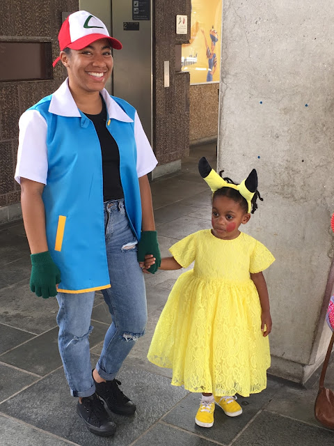pokemon ash ketchum pikachu halloween costumes mommy daughter  top atlanta georgia black mom mommy motherhood blogger anime