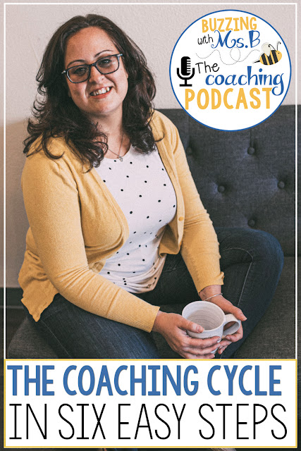 Instructional coaches, are you afraid to start a coaching cycle because you're not sure how to make it work? Then look no further: this episode shared six easy steps to implementing coaching cycles with your teachers! These steps are simple and purposeful, and it'll guide you through the process of a coaching cycle so you'll be ready to use this powerful strategy to make an impact on teaching and learning! Check out the post and the free download, too!