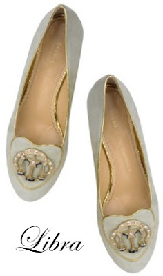 Charlotte Olympia Libra Suede Flats Cosmic Collection