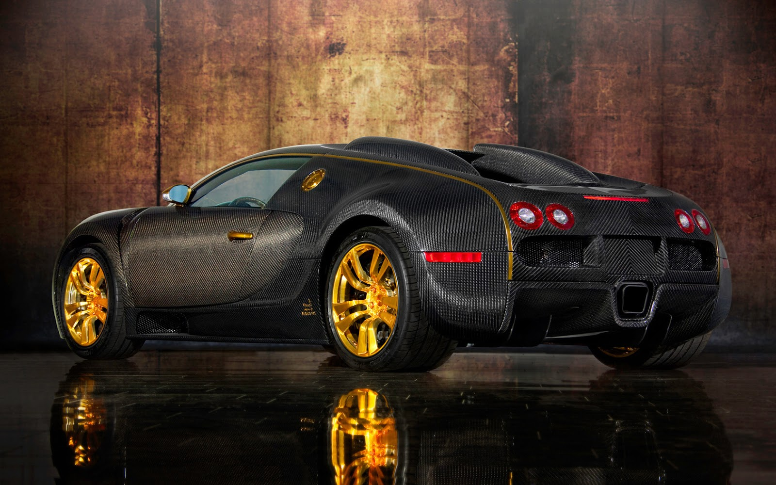 Gold Car Wallpapers: Bugatti Veyron Gold Edition Wallpapers