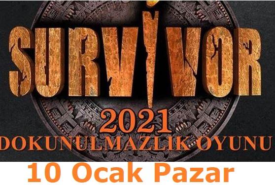 Survivor 2021 10 Ocak Pazar Dokunulmazlığı Hangi Takım Kazandı