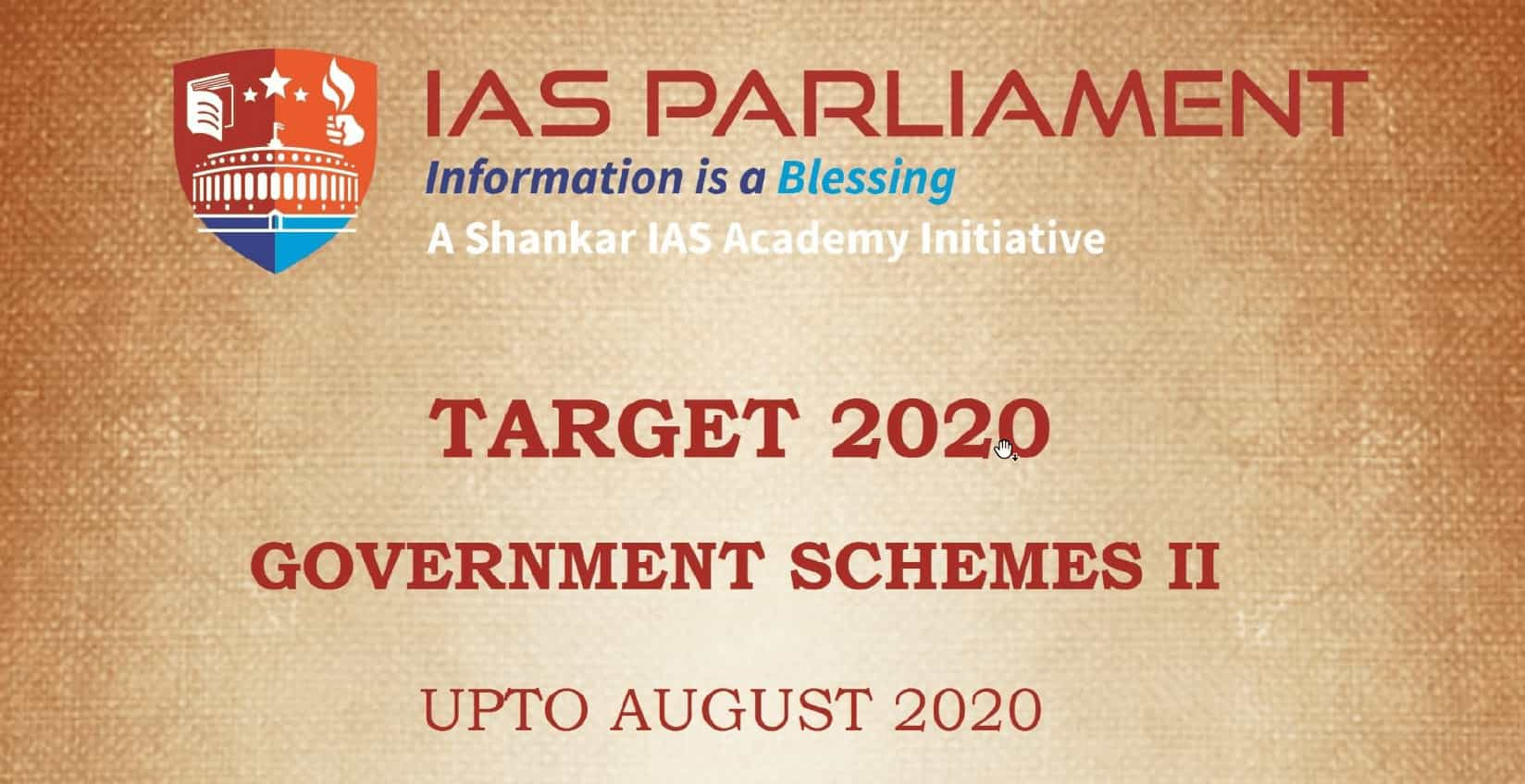 Target 2020 Government Scheme pdf