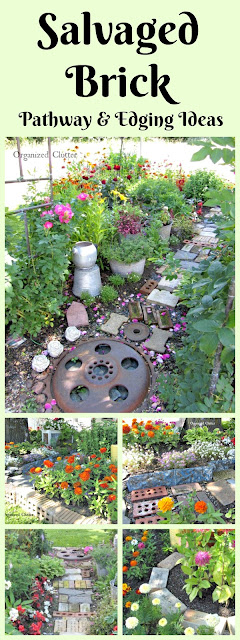 Salvaged Brick Ideas for the Flower Garden www.organizedclutter.net