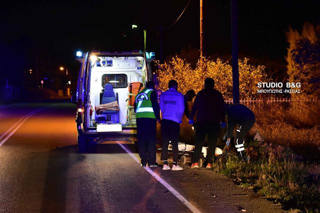 Σοβαρό τροχαίο ατύχημα στο Ναύπλιο - Τραυματίας οδηγός μηχανής