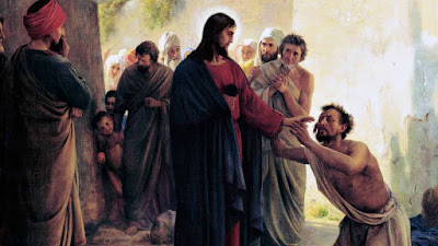 Imagem de Jesus Cristo curando o cego, pintura, #1