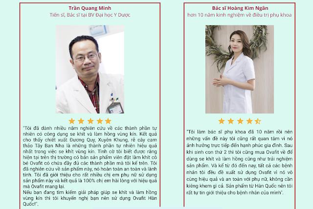 Đánh giá của chuyên gia về viên se khít Ovafit Hàn Quốc