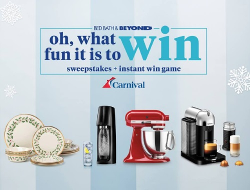 Bed, Bath & Beyond Oh, What Fun It Is to Win Sweepstakes