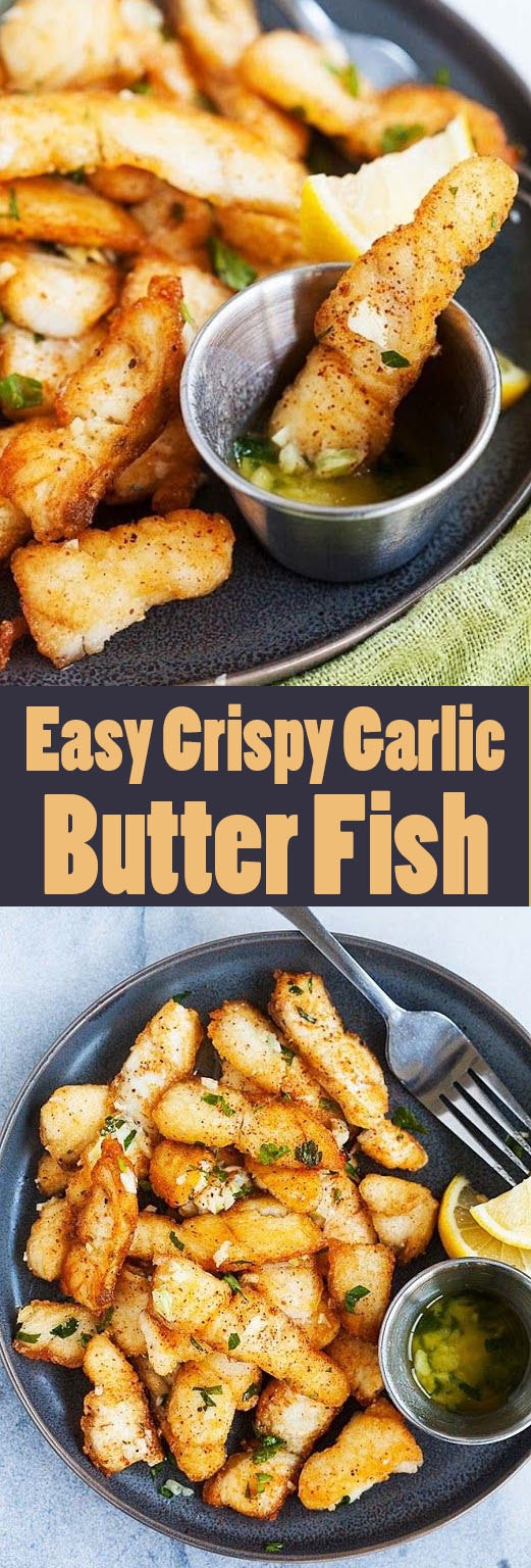 #Easyrecipe Crispy Garlic Butter Fish