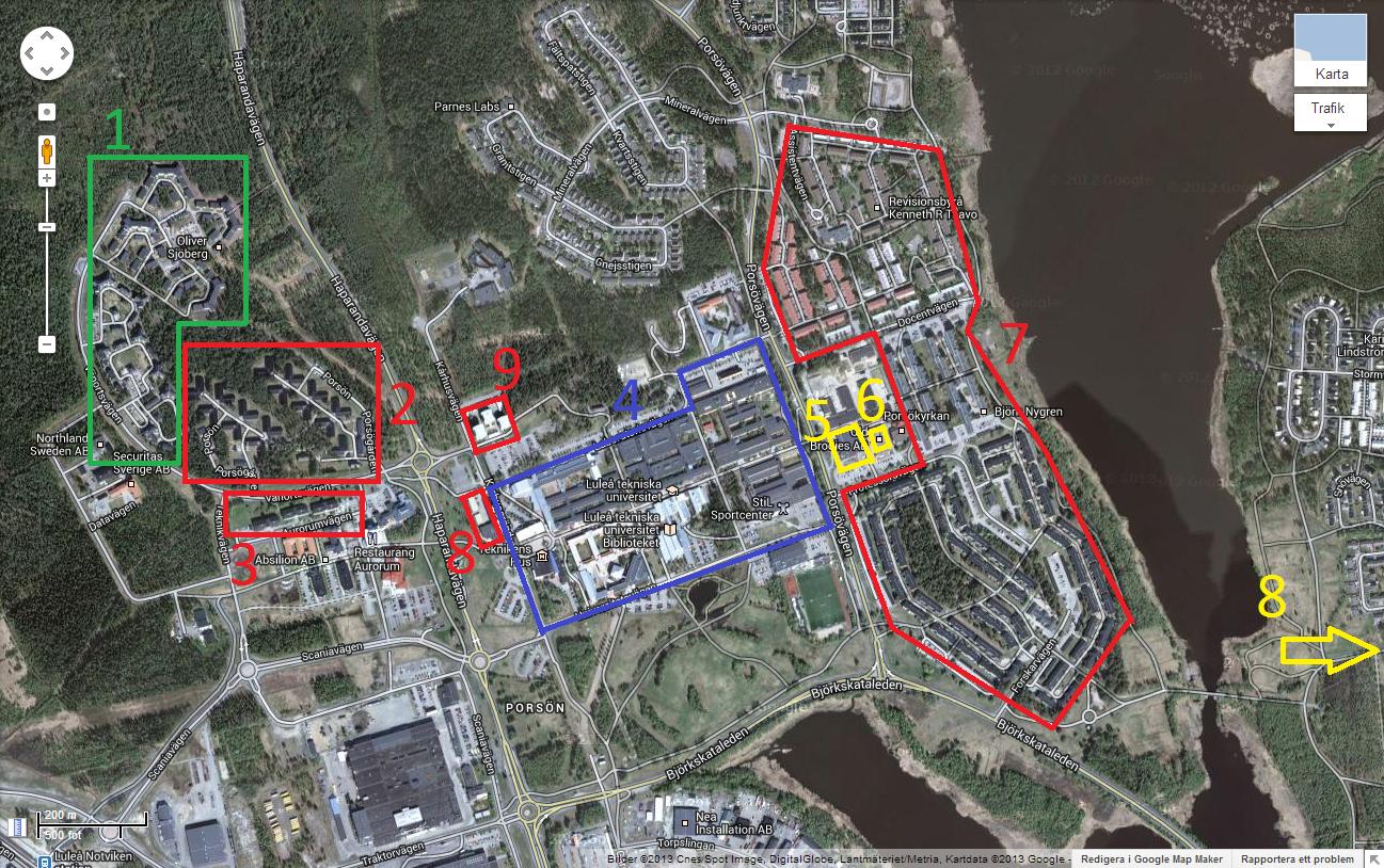 luleå universitet karta Brandingenjör LTU: Att bo som student i Luleå luleå universitet karta