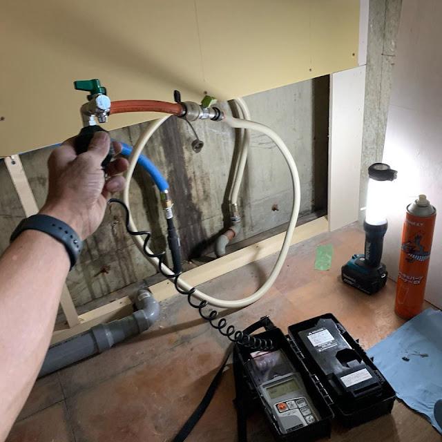 都市ガス:改修工事物件に伴いガス配管の仕込み