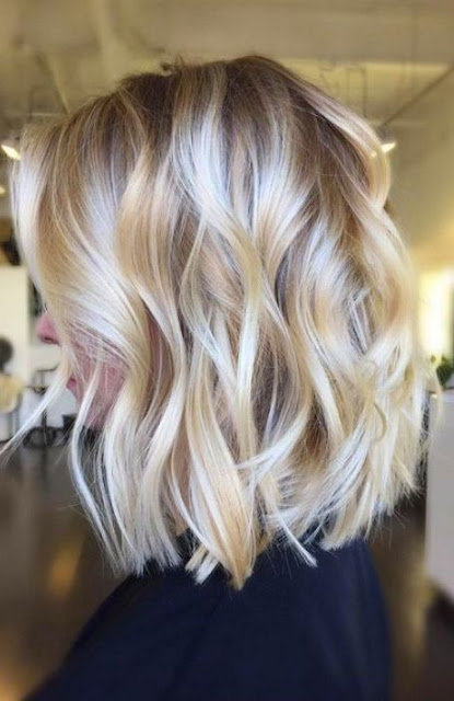 Medium Length Wavy Bob Hairstyle - Medium Length Hairstyle and Haircuts For Women