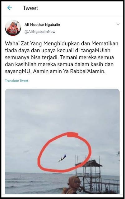 WADUH...!! Roy Suryo: Foto Pesawat Yang Diunggah Ngabalin Editan