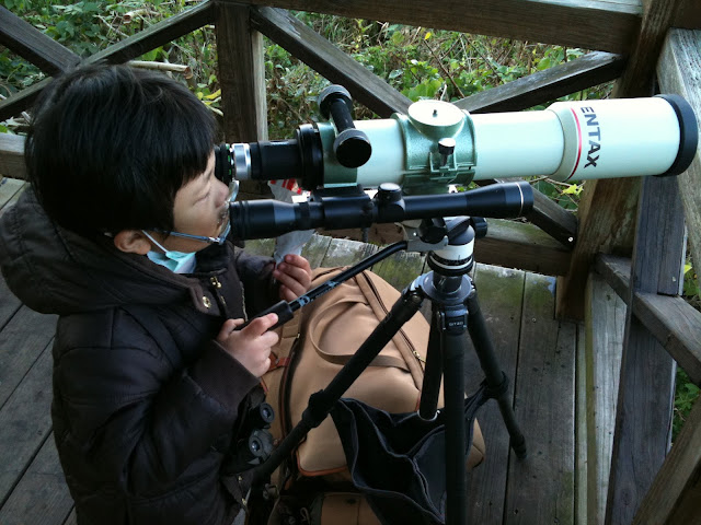 Pentax 75SDHF 接36.4mm的正像鏡作地景觀察