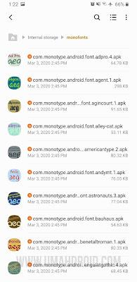 Pindahkan APK Font ke Folder Monofonts