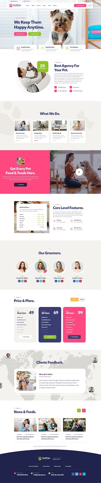 Download Pet Care & Veterinary Shop Template