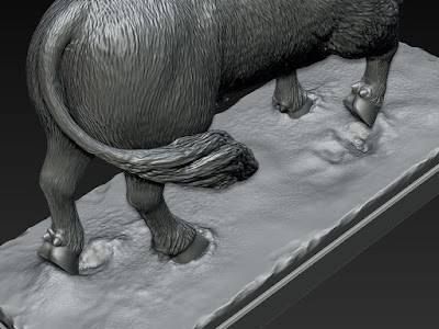 The Bull - tabletop figurine. Digital sculpting for 3D printing and production.