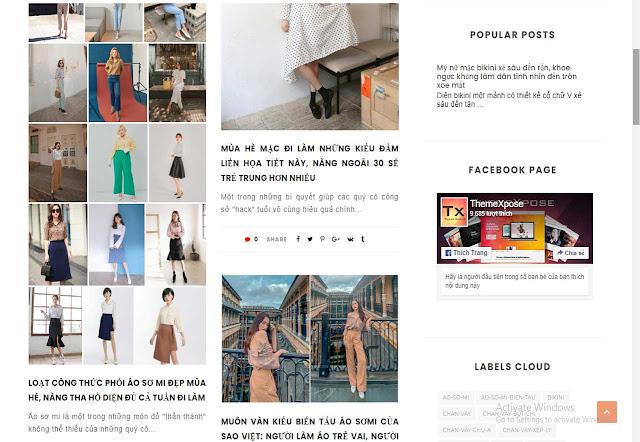 Mẫu website tạp chí thời trang