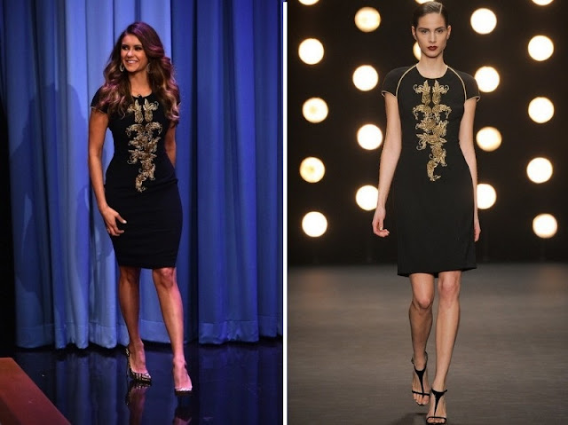 Nina Dobrev in Naeem Khan – The Tonight Show Starring Jimmy Fallon