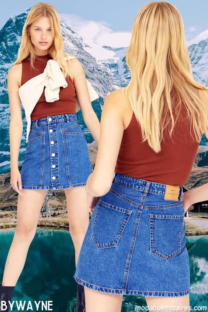 Minifaldas de jeans otoño invierno 2021