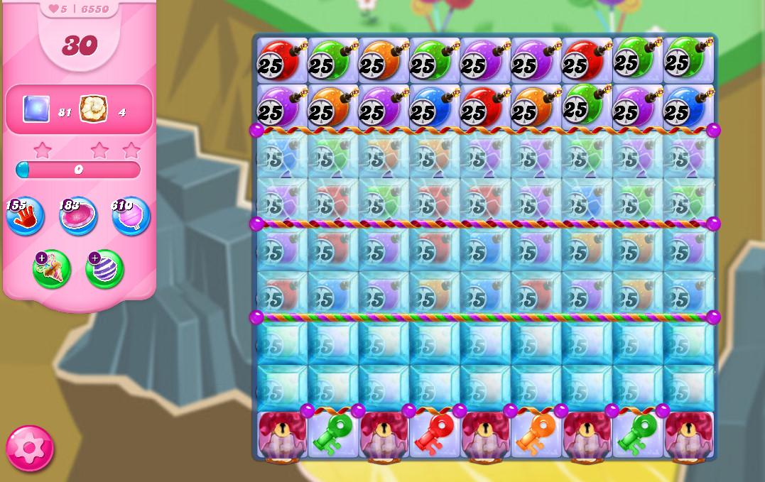 Candy Crush Saga level 6550