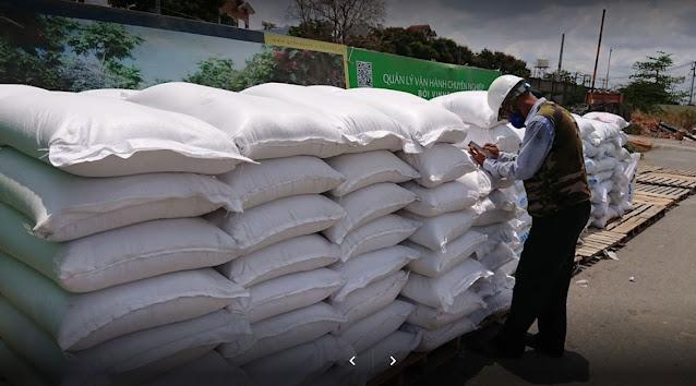 Giao gạo từ thiện cho Vinhomes