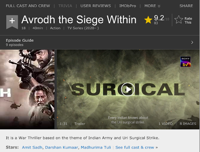 Download Avrodh the Siege Within (2020) S01 Hindi SonyLiv WEB Series 480p | 720p WEB-DL 200MB