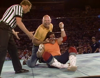NWA Great American Bash 1986 (Charlotte, July 5th) - Baron Von Rashke faced Manny Fernandez in a Bunkhouse Match