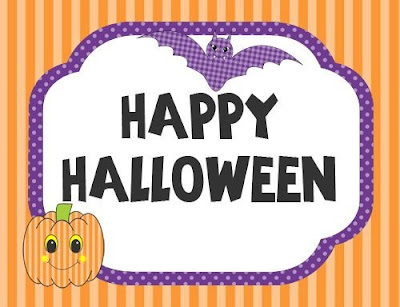 Cute Happy Halloween sign wish 2016