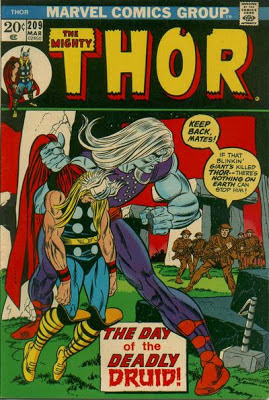 Thor at Stone Henge, The Druid