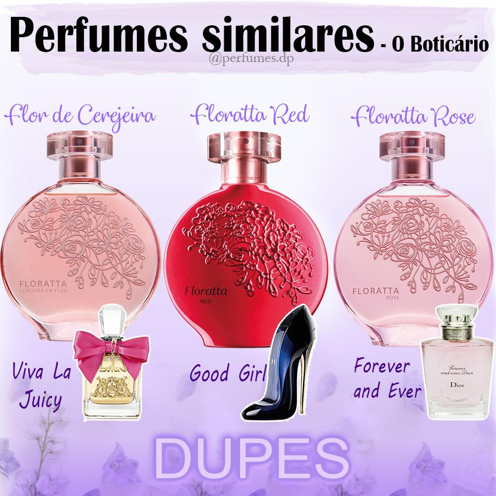 Perfumes similares Floratta O Boticário