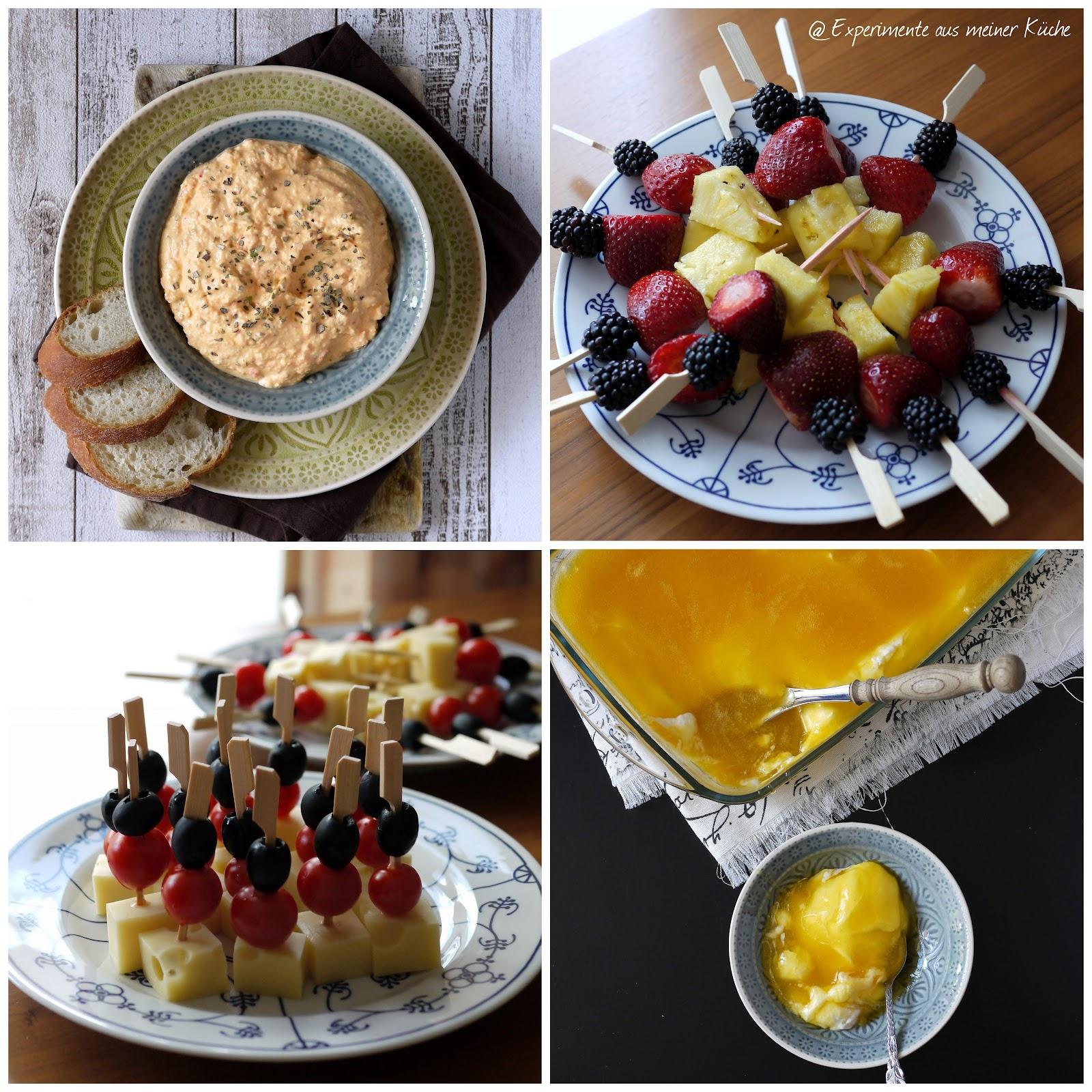 Experimente Aus Meiner Kuche Dips Dessert Und Deutschland Spiesse