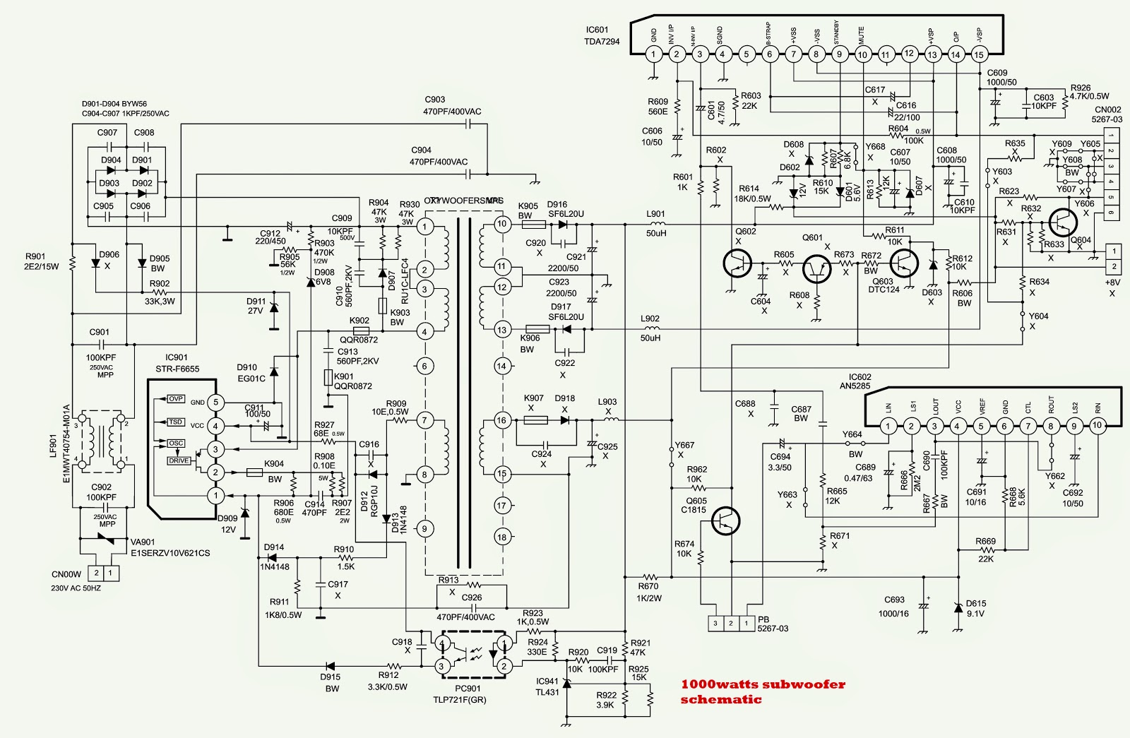 ONIDA 21_29 OXYGEN THUNDER CTV SMPS SCHEMATICS (Circuit