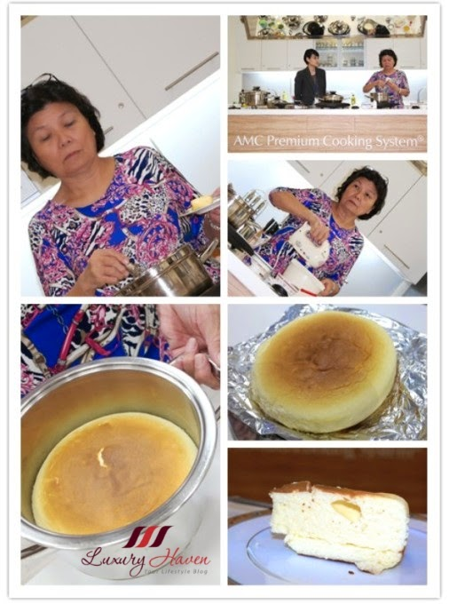 amc premium system cooking class japanese cheesecake