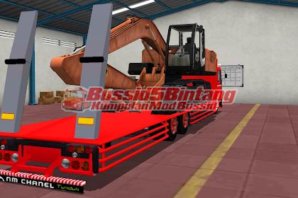 Mod Bussid Fuso muatan Exavator