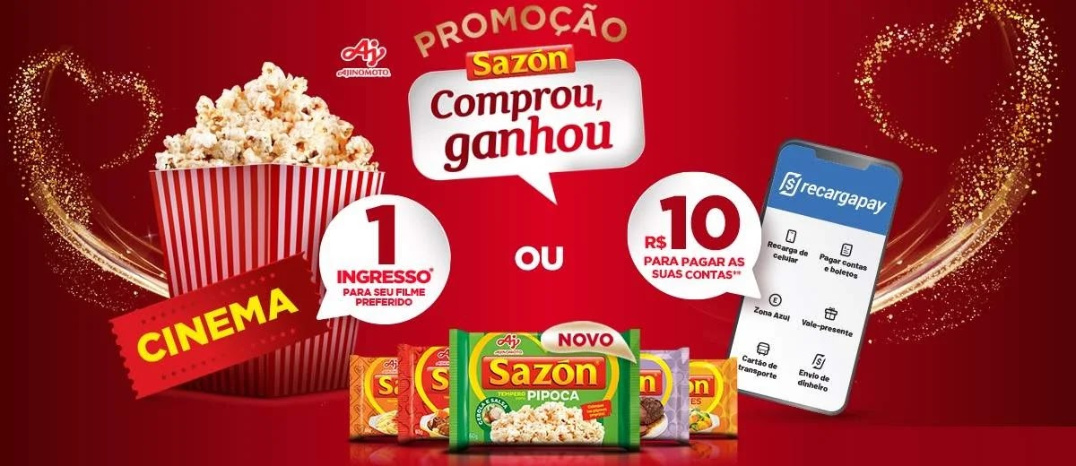 Sazón Comprou Ganhou Recarga ou Ingresso Cinema