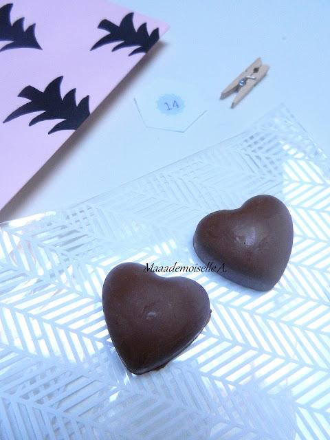 Ouverture de notre calendrier de l'Avent 2015 - Chocolats au praliné fait maison